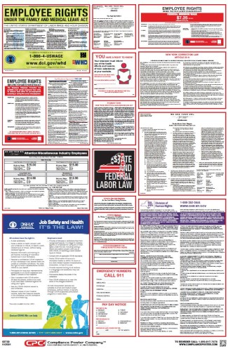 Federal & NY State Labor Law Poster