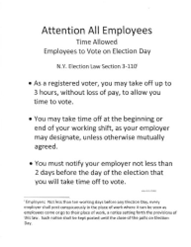 NY State Election Notice
